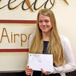 Our latest round-trip ticket winner - Misty Anderson!